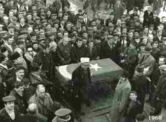 alifuat cebesoy paşa cenaze töreni 13.01.1968