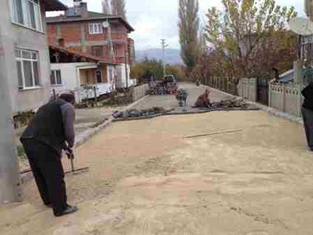 Geyve Belediyesi  Kilitli parke çalışması
