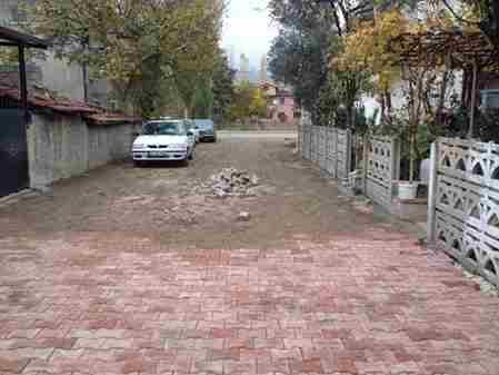 Geyve Belediyesi Malazgirt Sokak  Kilitli parke çalışması