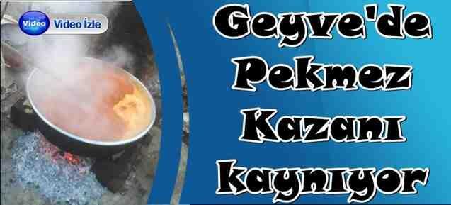 Geyve'de Pekmez Kazanı kaynıyor