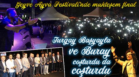 Geyve Ayva Festivali'nde Muhteşem Final