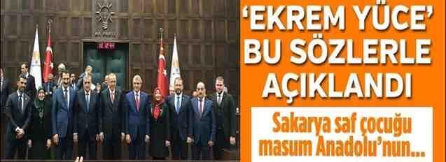 Erdoğan Açıkladı; Büyükşehir Adayı Ekrem Yüce