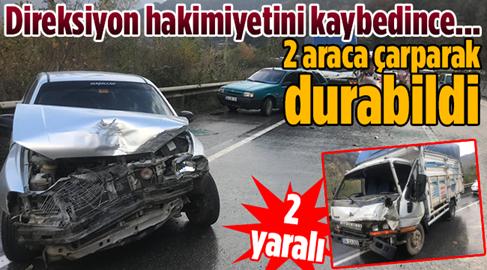 Otomobil, Hayvan Yüklü Kamyonete Çarptı..