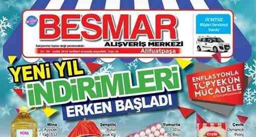 Besmar'da Yeni Yıl İndirimleri Erken Başladı