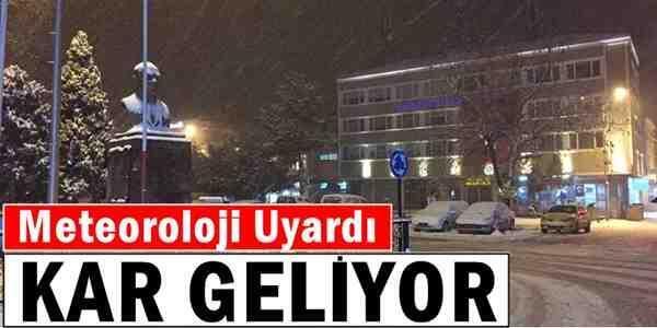 Meteoroloji tarih verdi: Kar geliyor!
