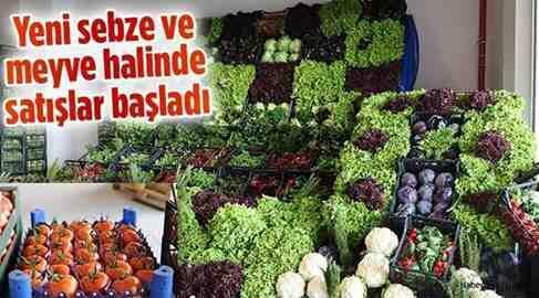 Yeni sebze ve meyve halinde satışlar başladı