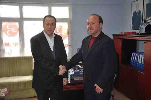 Başkan Kaya'dan MHP İlçe Yönetimine Ziyaret