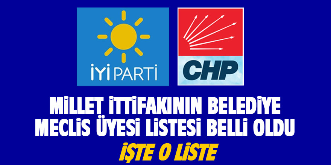 Millet İttifakının Geyve Belediye Meclis Üyesi adayları