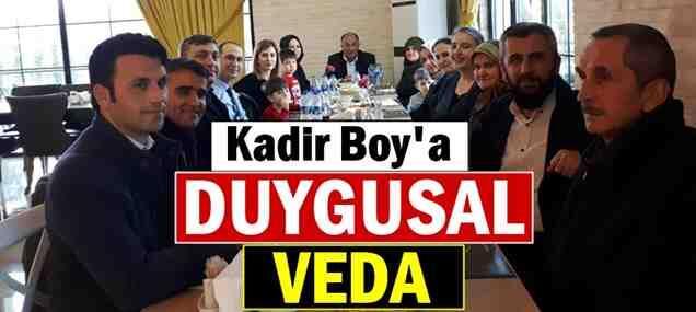 Kadir Boy'a Duygusal Veda…