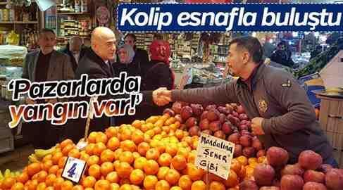 İYİ Parti Başkan Adayı Kolip Geyve Pazarında..