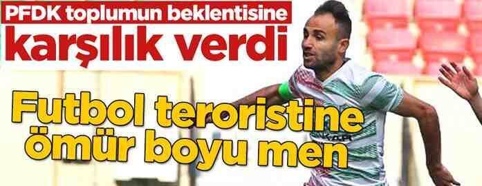 Mansur Çalar'a ÖMÜR BOYU FUTBOLDAN MEN Cezası
