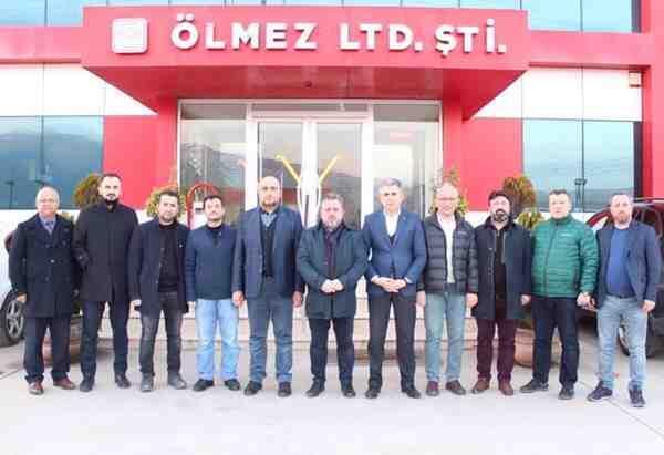 TÜMSİAD yönetimi Ölmez Çelik'te toplandı.