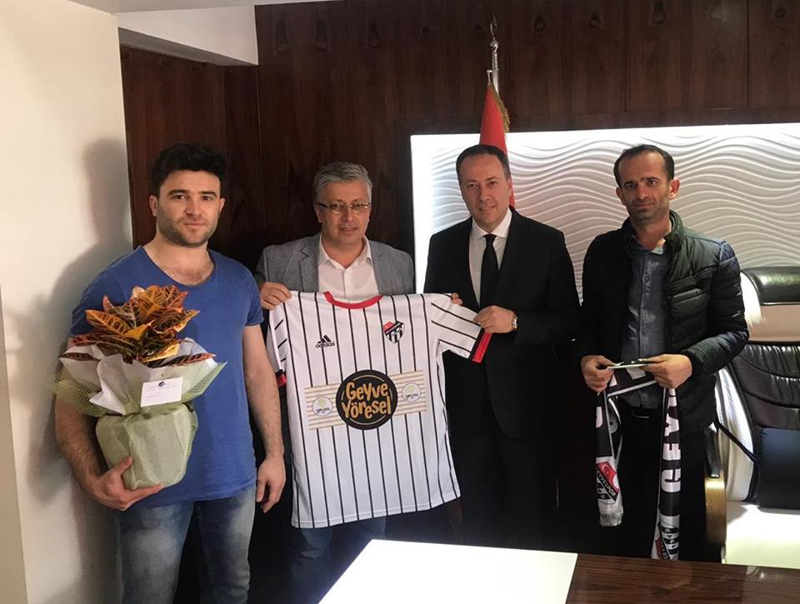 Geyvespor'dan Başkan Kaya'ya Hayırlı Olsun Ziyareti