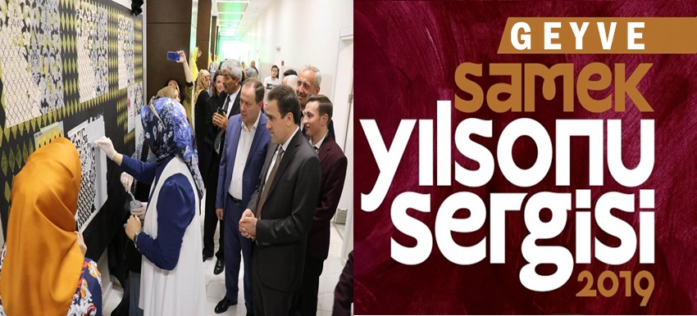 SAMEK Geyve Yılsonu Sergisi Açıldı