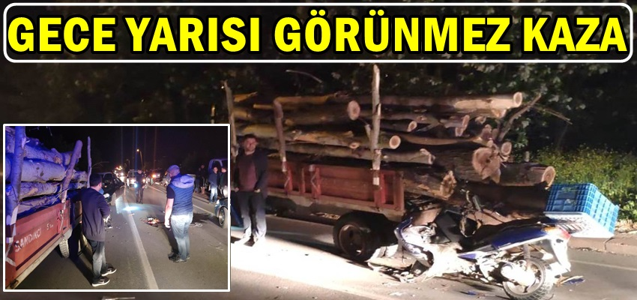 Geyve'de Gece Yarısı Görünmez Kaza