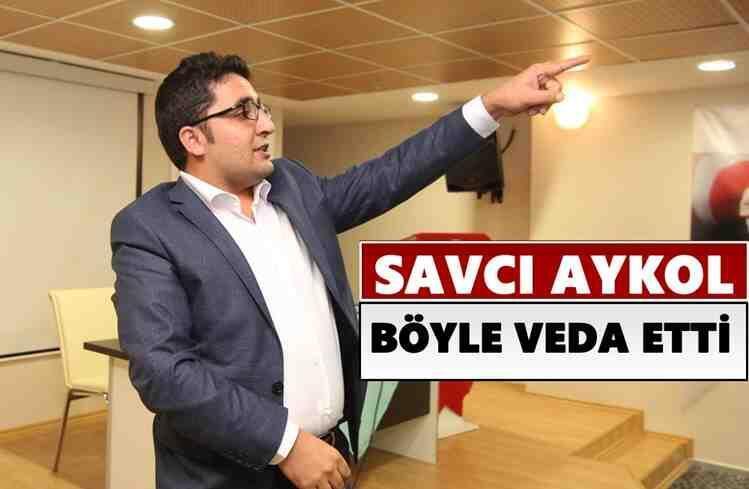 Savcı Aykol, Böyle Veda Etti