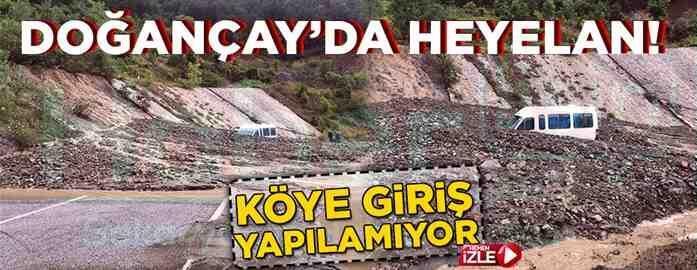 Geyve Doğançay'da Heyelan..