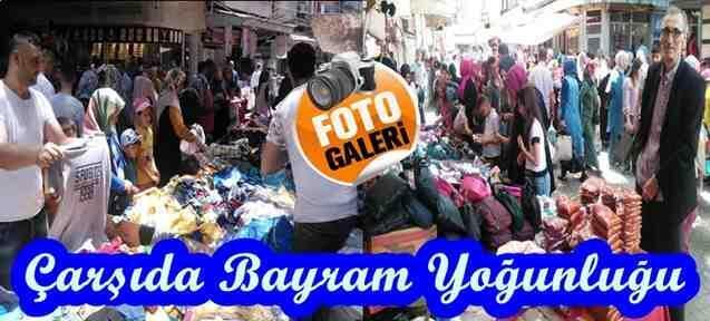 Geyve'de Çarşı Pazar'da Bayram Hareketliliği