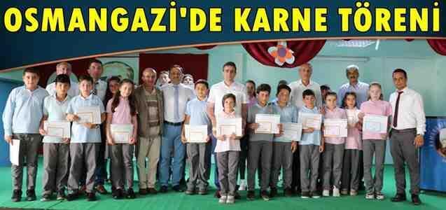 Geyve Osman Gazi'de Karne Töreni