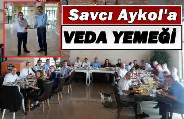 Savcı Aykol'a Veda Yemeği