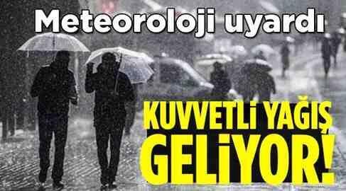 Meteoroloji Uyardı..Yağış geliyor