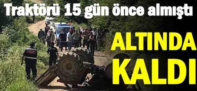 Geyve Kızılkaya'da Traktör Kazası ..1 Ölü