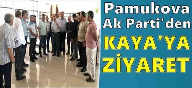 Pamukova Ak Parti den Başkan Kaya'ya hayırlı olsun ziyareti..