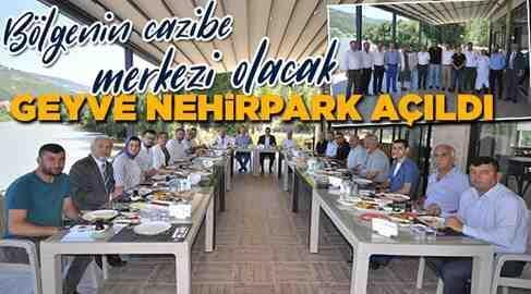 Geyve Nehir Park Sosyal Tesisleri Açıldı