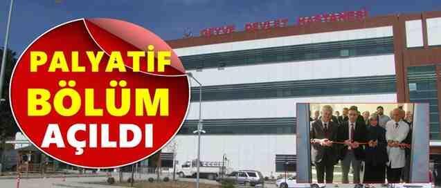 Geyve Devlet Hastanesi PALYATİF BÖLÜMÜ Açıldı
