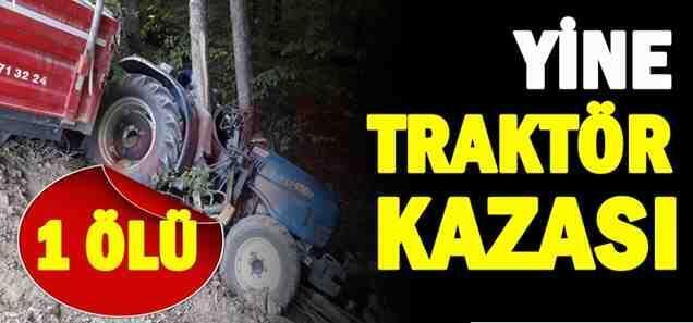 Pamukova'da Odun Yüklü Traktör Kontrolden Çıktı..1 ölü!