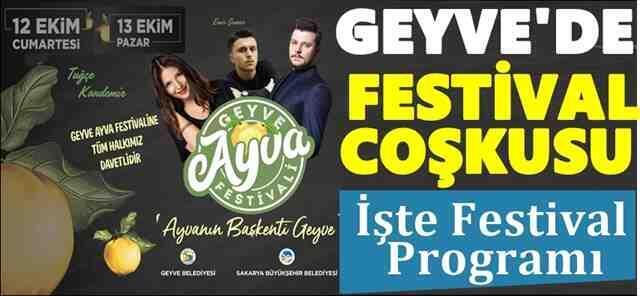 Geyve Ayva festivali programı belli oldu