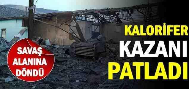 Pamukova'da Kalorifer Kazanı Patladı…