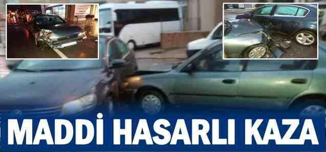 Geyve Tepecikler'de Maddi Hasarlı kaza..