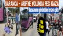 Sapanca'da Tır ile Halk Otobüsü Çarpıştı